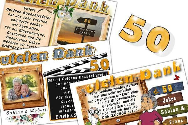 die einladung, danksagungskarte oder tischkarte zur goldenen hochzeit, Einladung