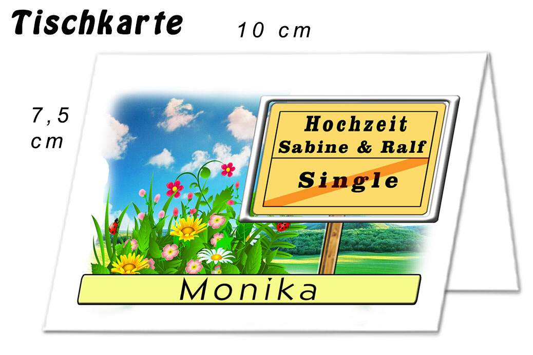 Tischkarte Hochzeit Kreativ 02