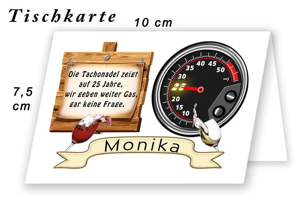 Tischkarte Silberhochzeit Lustig 06