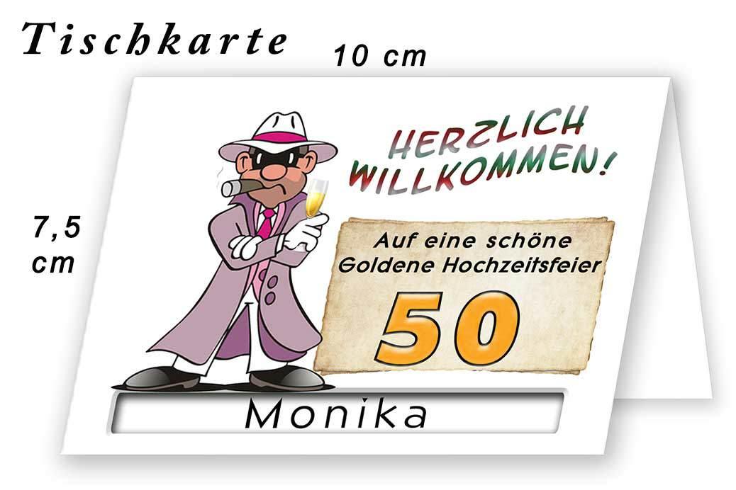 Tischkarte Goldene Hochzeit Lustig 11